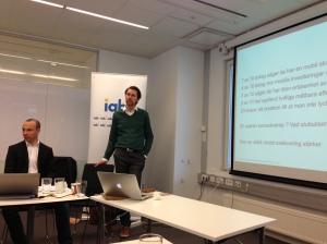 Förberedande workshop inför seminariet Mobile Marketing 360, där Anna Bellman är moderator